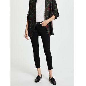 PAIGE Transcend Verdugo Crop Skinny Jeans in Black